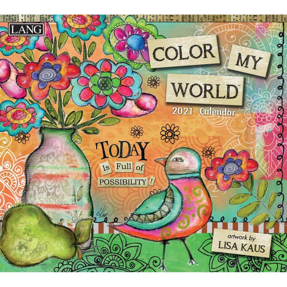 2021 Color My World Wall Calendar by Lisa Kaus