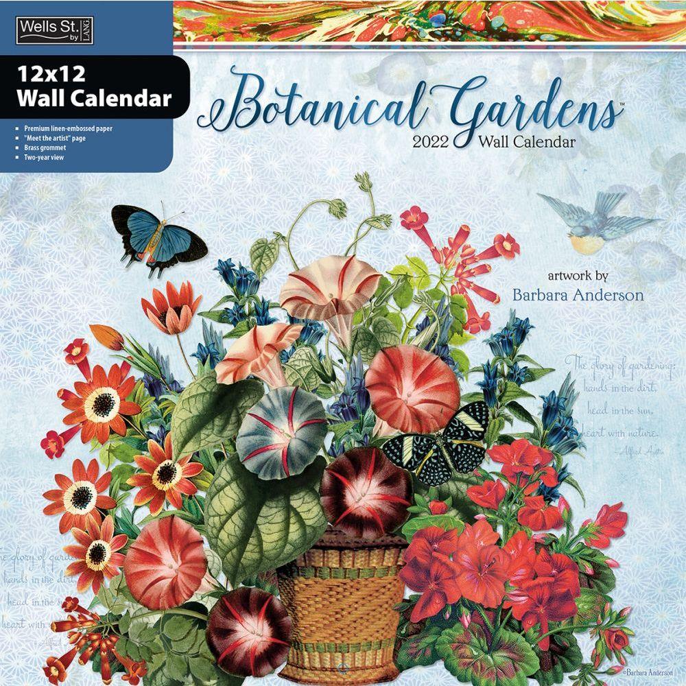 Botanical Gardens 2022 Wall Calendar