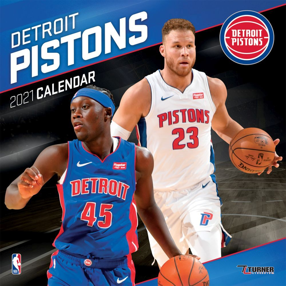 2021 Detroit Pistons Team Wall Calendar