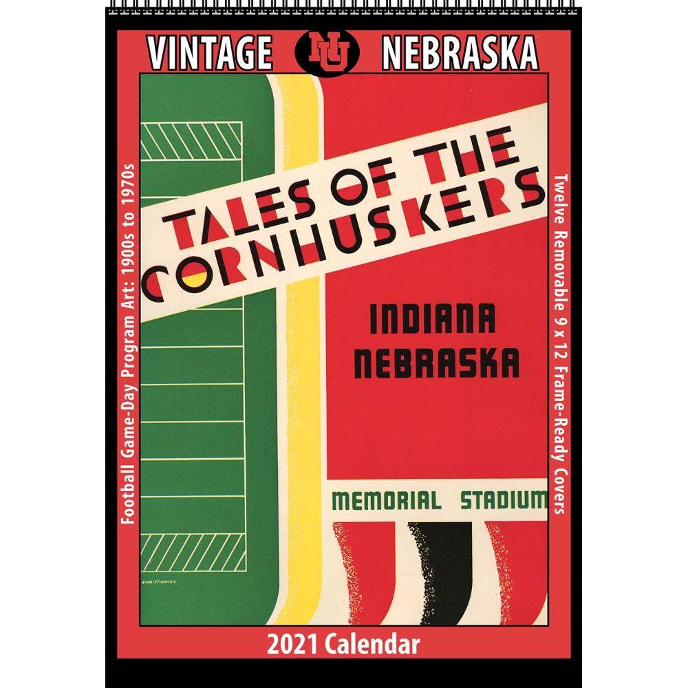 Vintage Nebraska Cornhuskers Football 2021 Poster Calendar