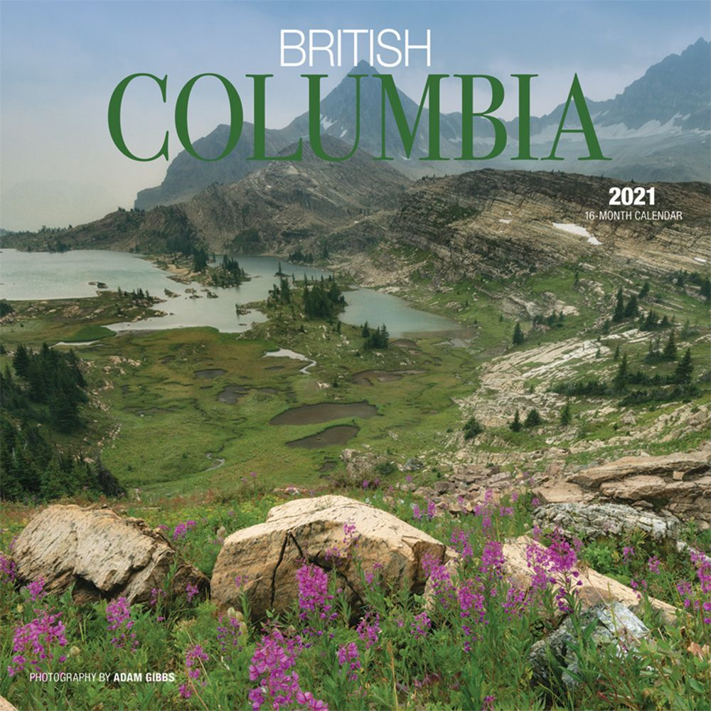 2021 British Columbia Wall Calendar
