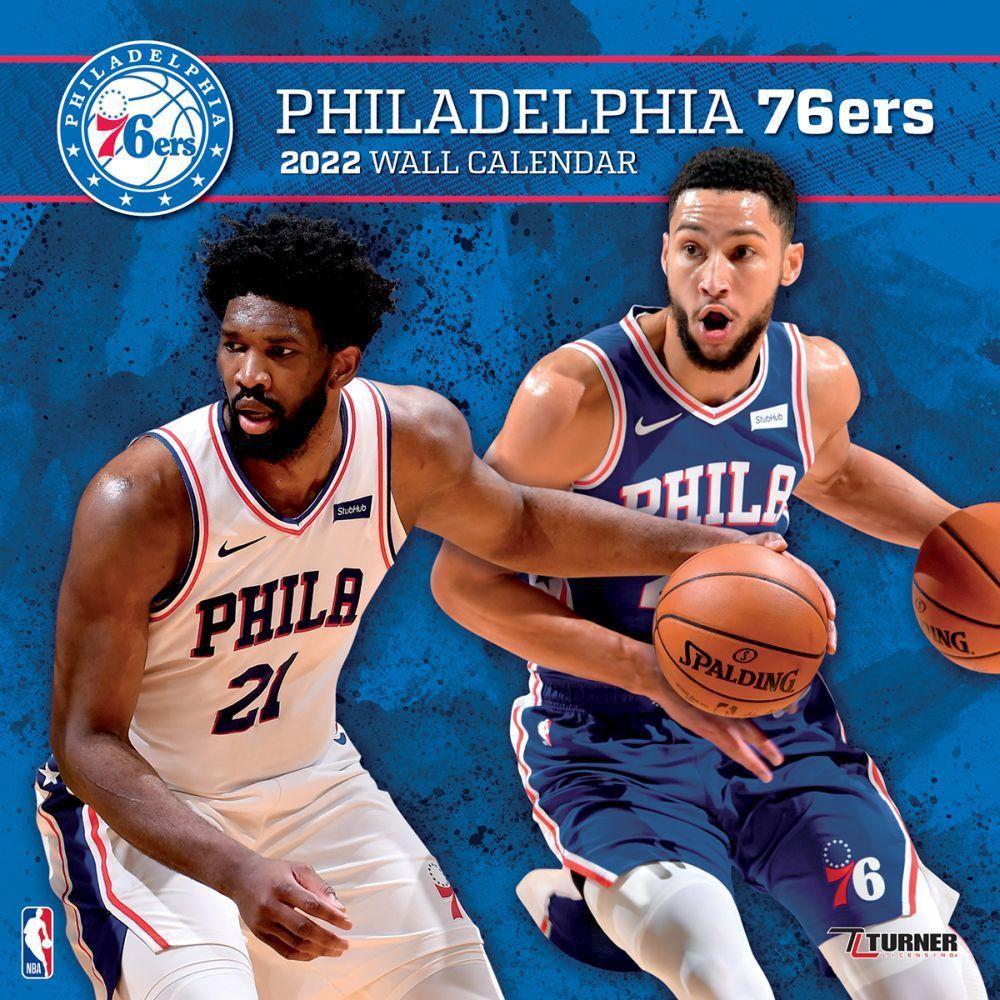 Philadelphia 76ers 2022 Wall Calendar