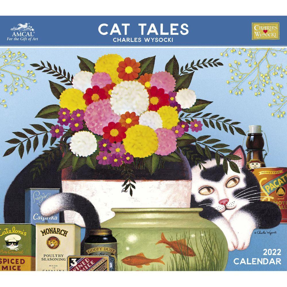 Charles Wysocki Cat Tales 2022 Wall Calendar