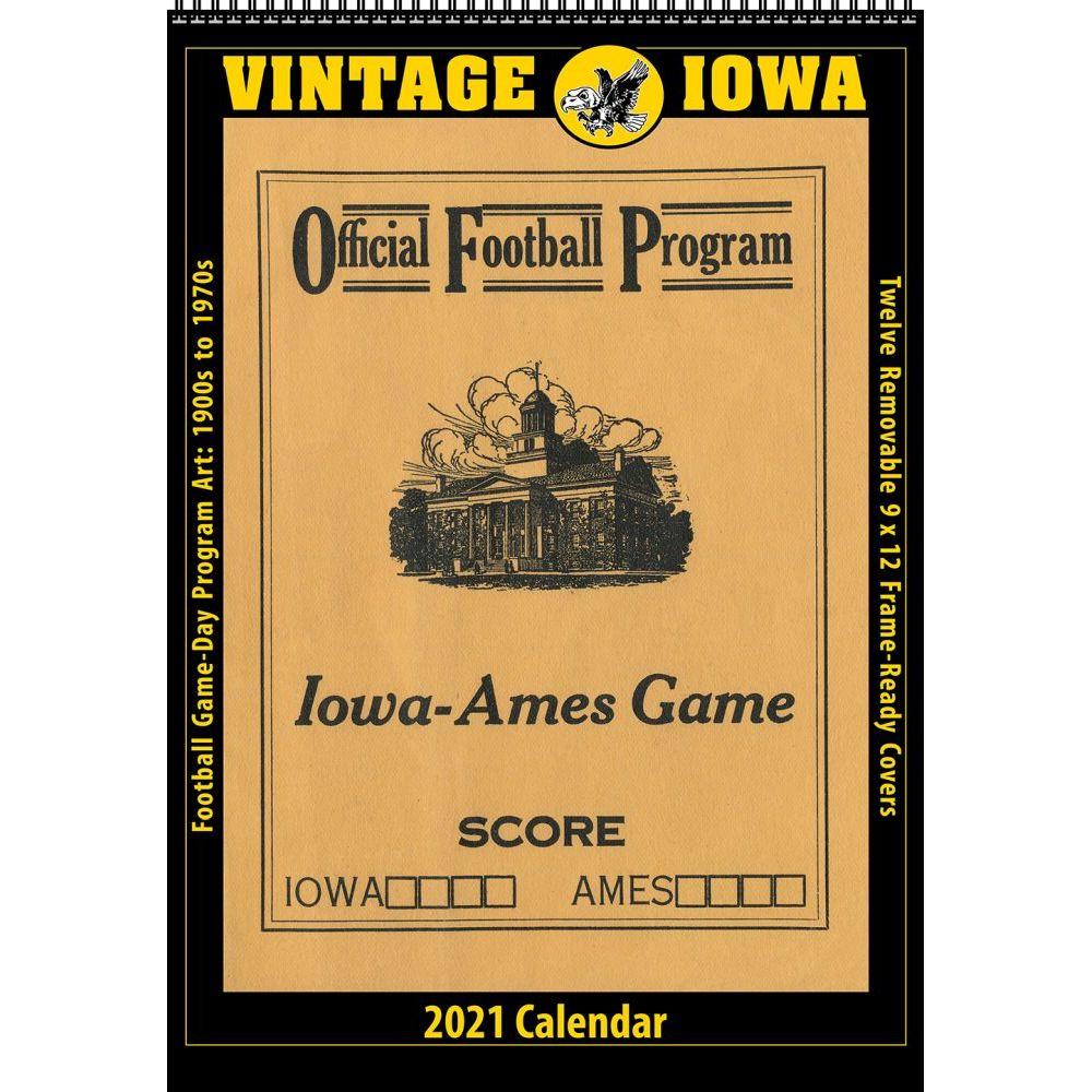 Vintage Iowa Hawkeyes Football 2021 Poster Calendar