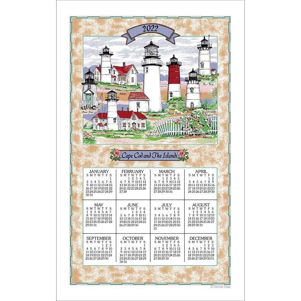 Lighthouses of Cape Cod 2022 Kitchen Towel Calendar