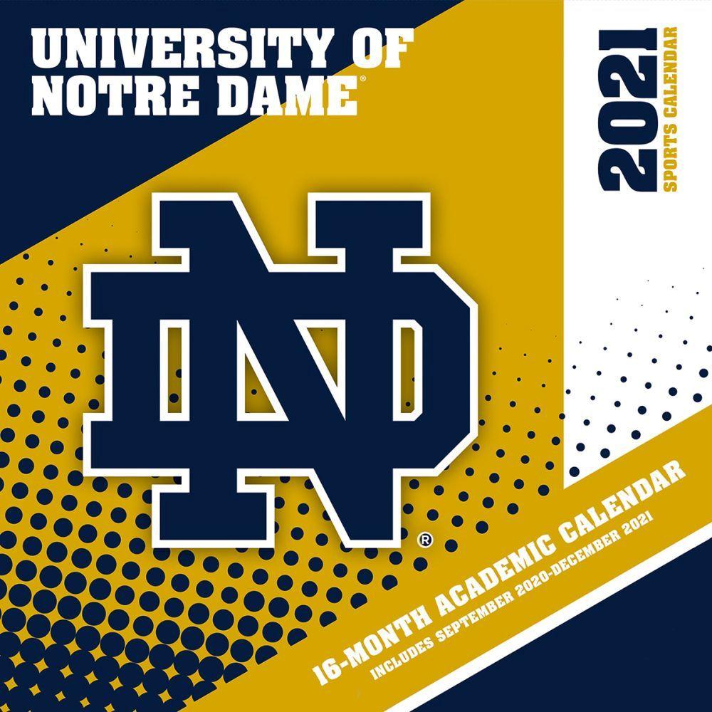 University of Notre Dame Fighting Irish 2021 Wall Calendar