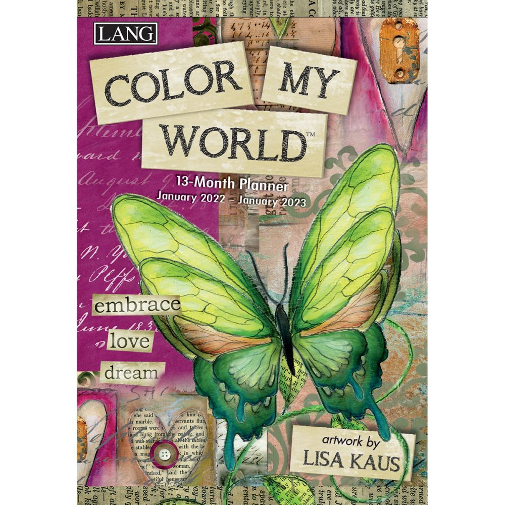 Color My World 2022 Monthly Planner