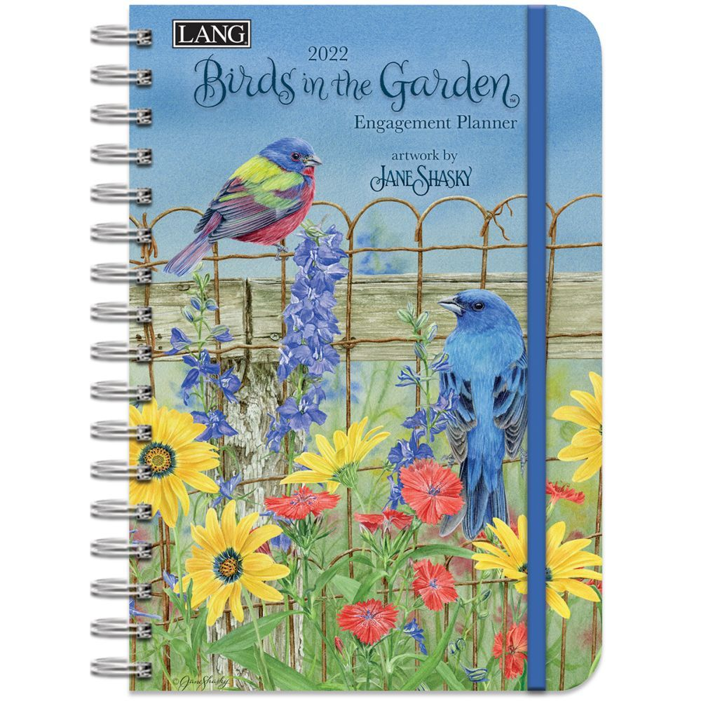 Birds In The Garden 2022 Spiral Engagement Planner