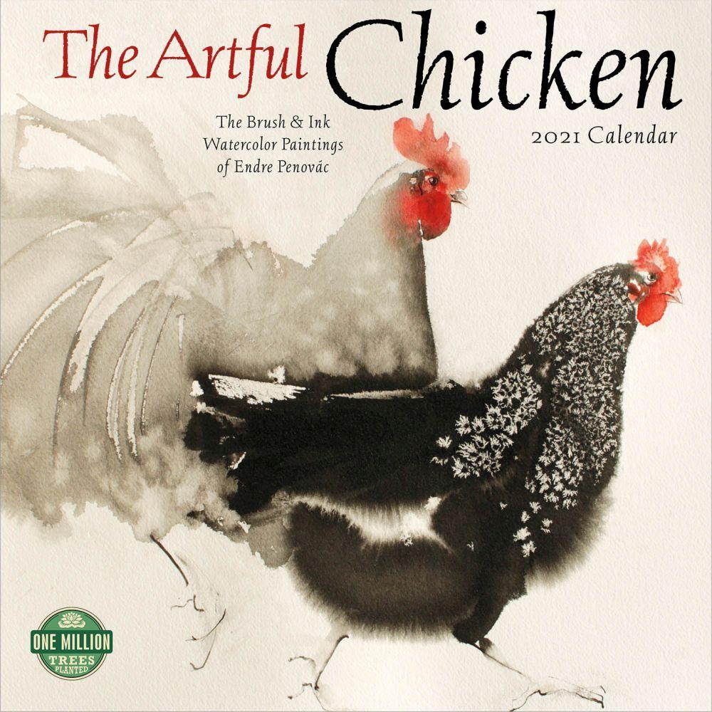 2021 Artful Chicken Wall Calendar