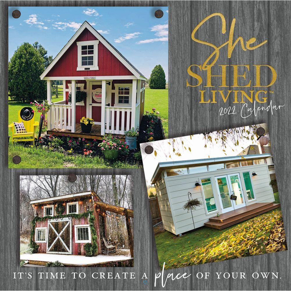 She Shed Living 2022 Wall Calendar W/Foil