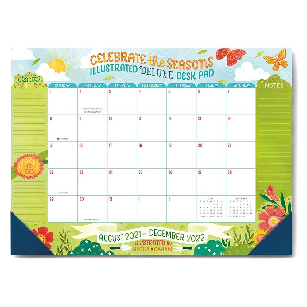 Celebrate The Seasons Deluxe High Note 2022 Desk Pad