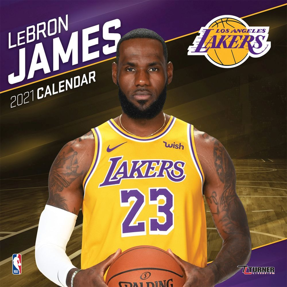 2021 NBA Lebron James Lakers Mini Wall Calendar