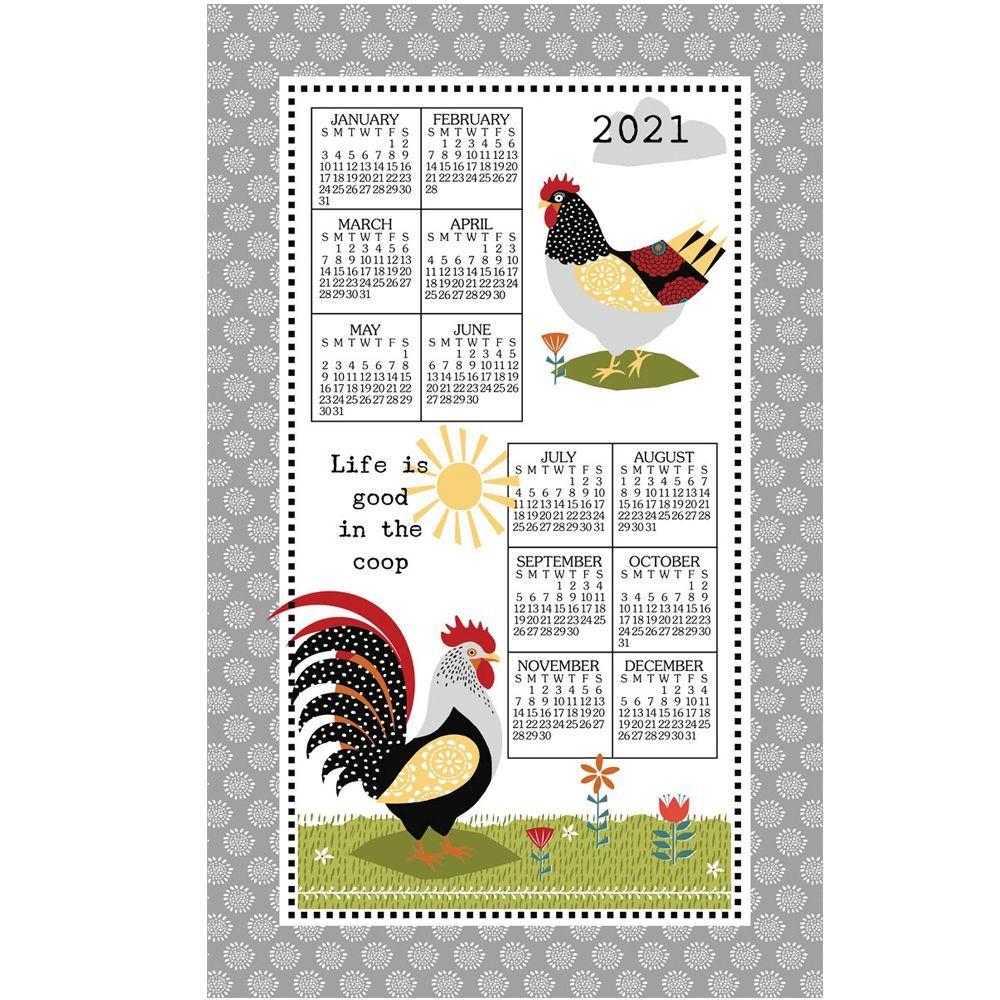 Farm Charm 2021 Kitchen Towel Calendar
