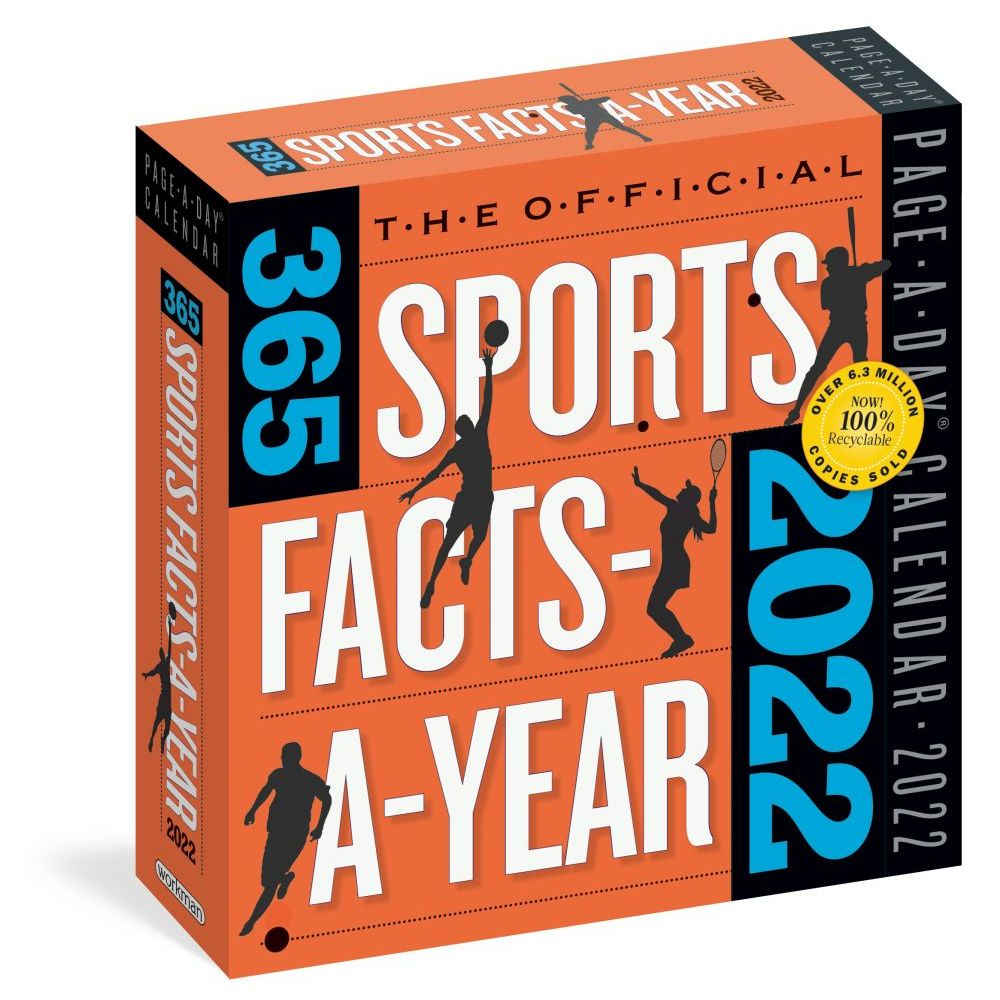 365 Sports Facts Page-A-Day 2022 Desk Calendar
