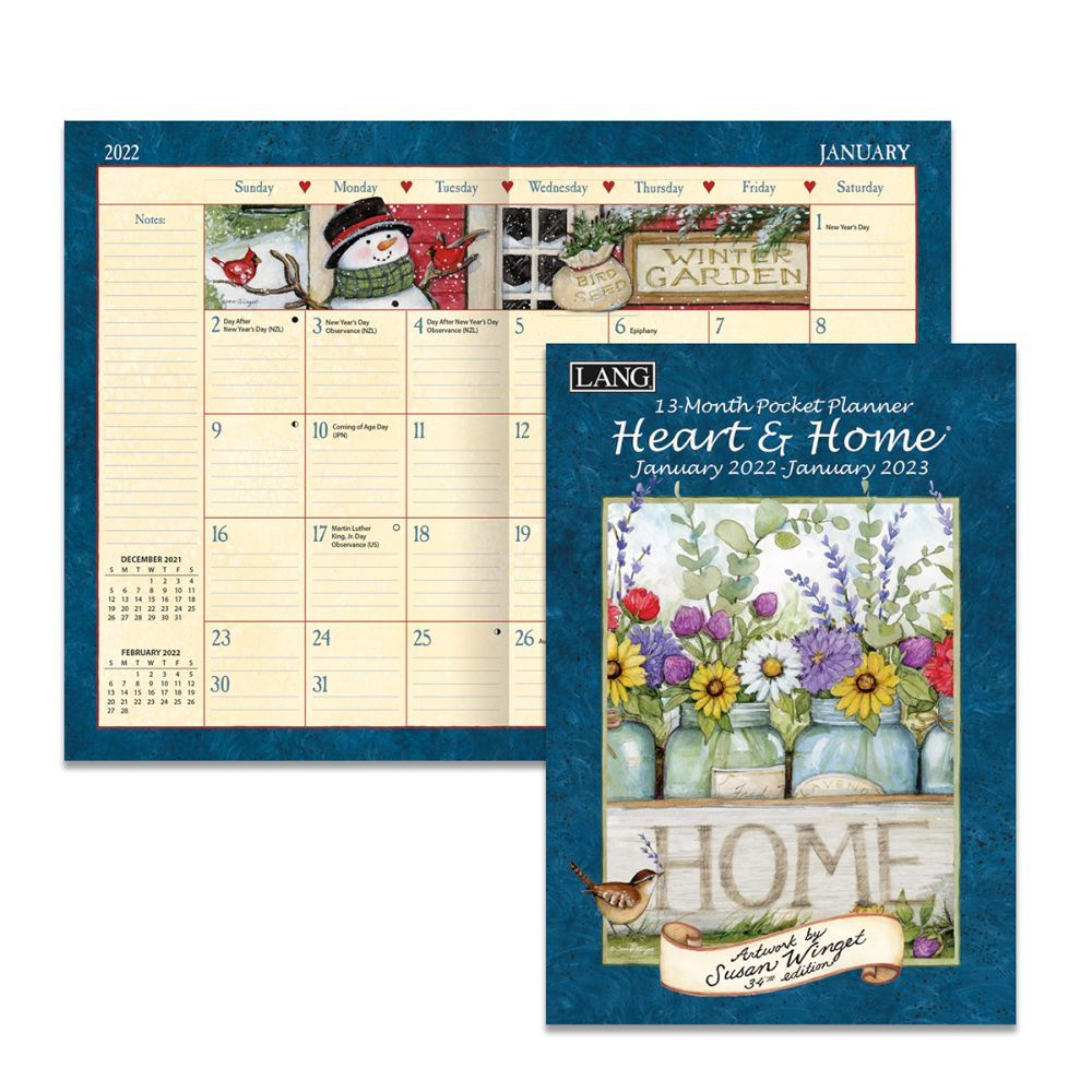 Heart and Home 2022 Monthly Planner