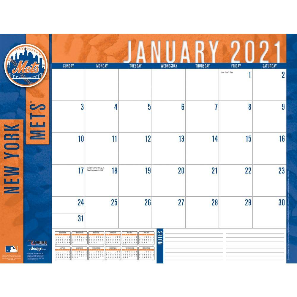 New York Mets 2021 Desk Pad