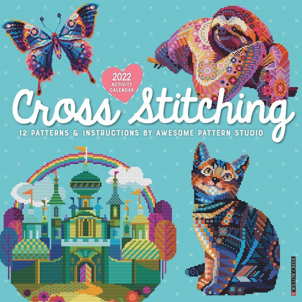Cross Stitching 2022 Wall Calendar