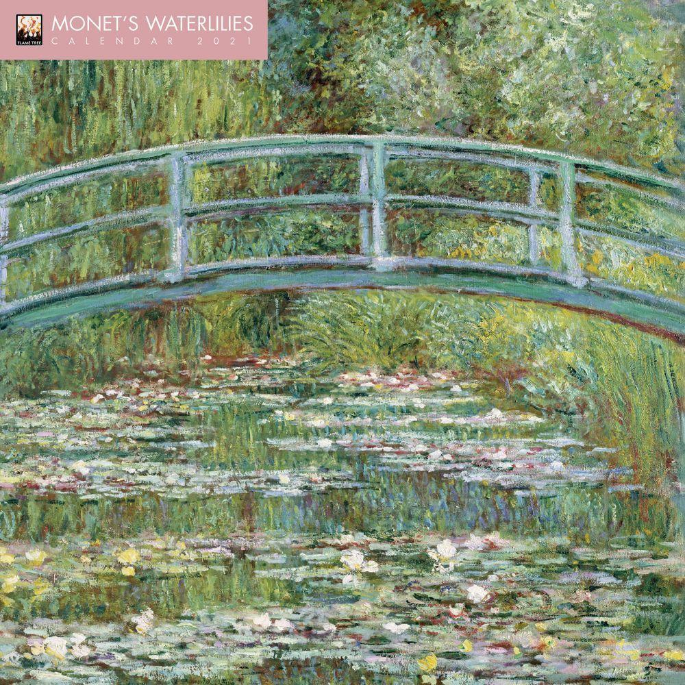 Claude Monet Water Lilies 2021 Wall Calendar