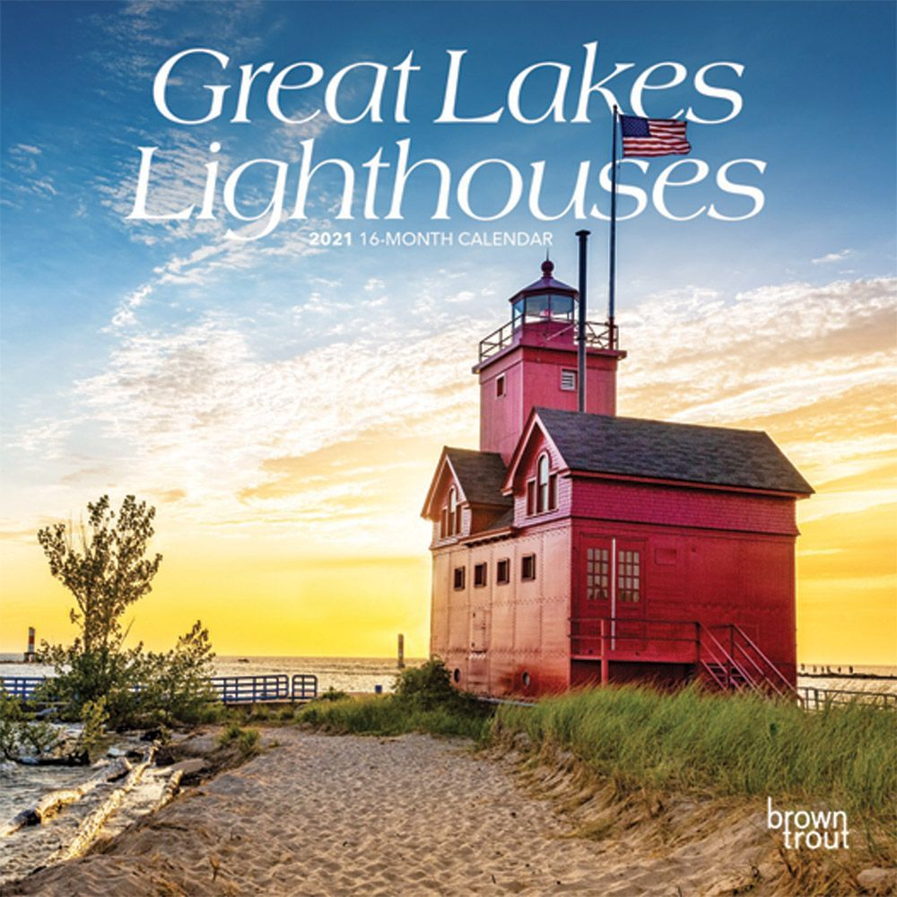 2021 Lighthouses Great Lakes Mini Wall Calendar