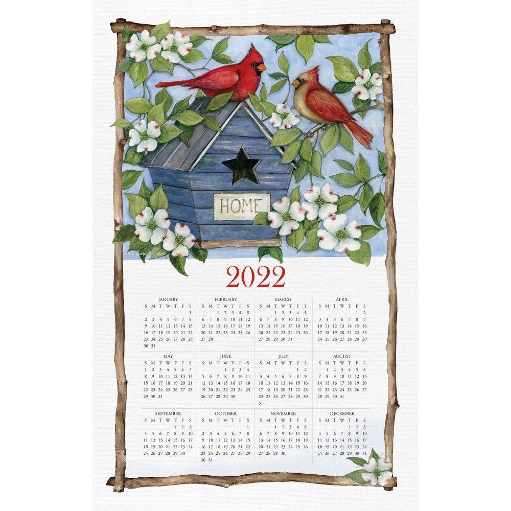 Spring Cardinals 2022 Calendar Towel