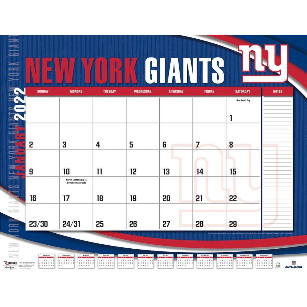 New York Giants 2022 Desk Pad