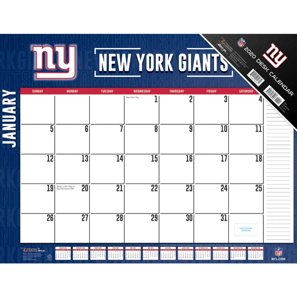New York Giants 2021 Desk Pad