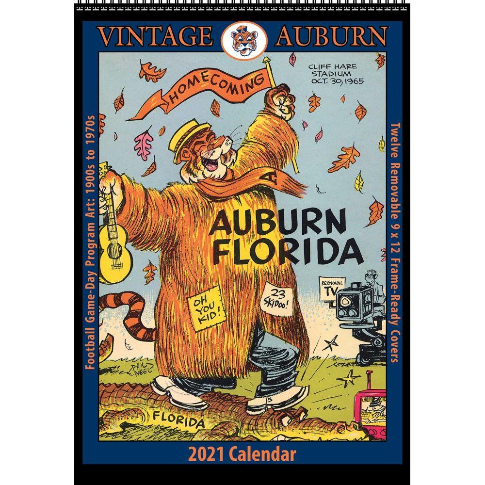 Vintage Auburn Football 2021 Poster Calendar