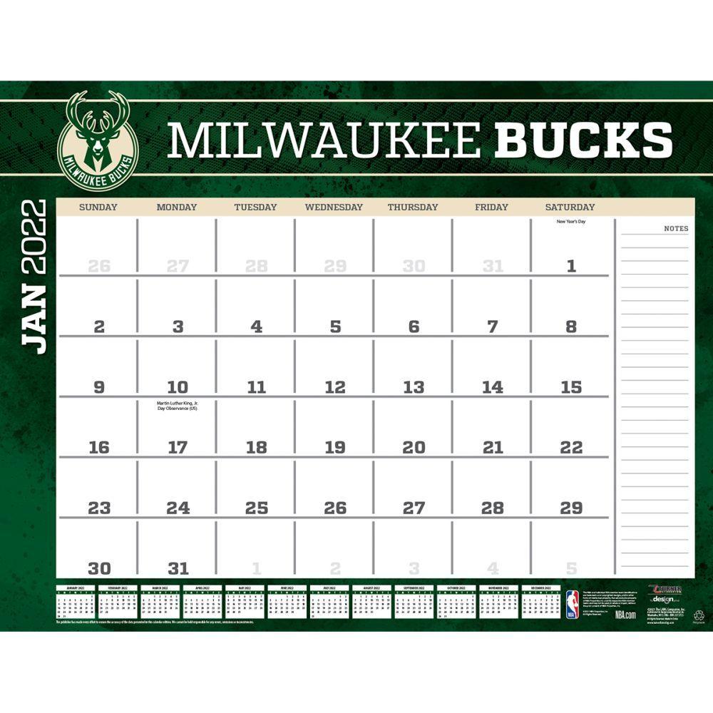 Milwaukee Bucks 2022 Desk Pad
