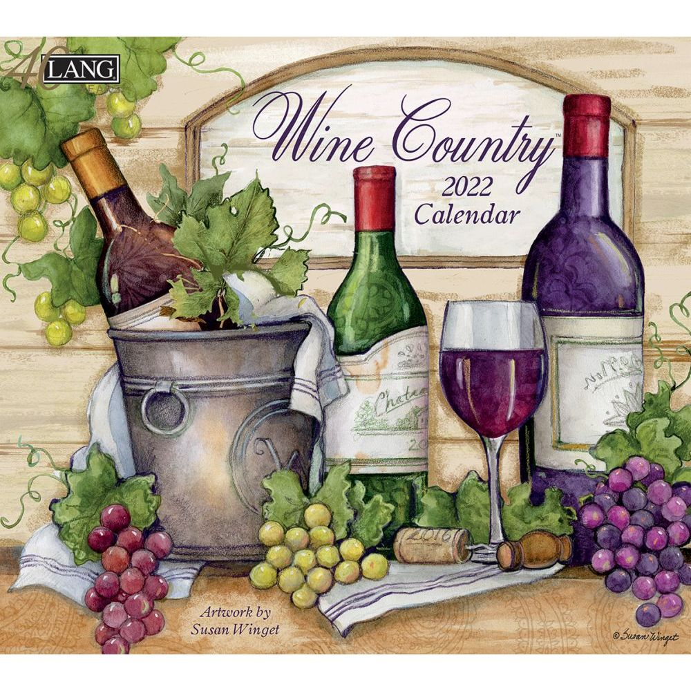 Susan Winget Wine Country 2022 Wall Calendar