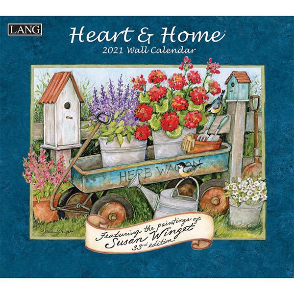 2021 Heart & Home Wall Calendar by Susan Winget