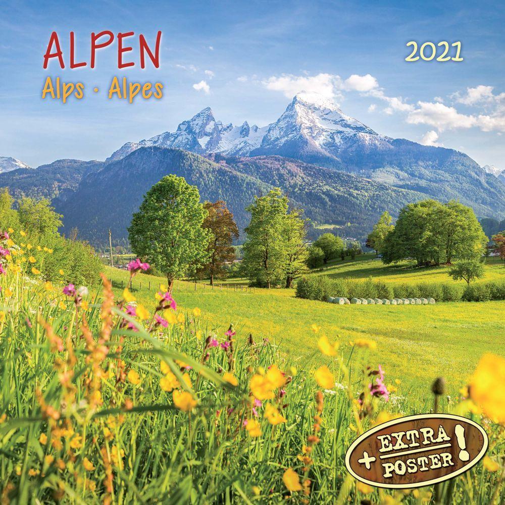 Alps 2021 Wall Calendar