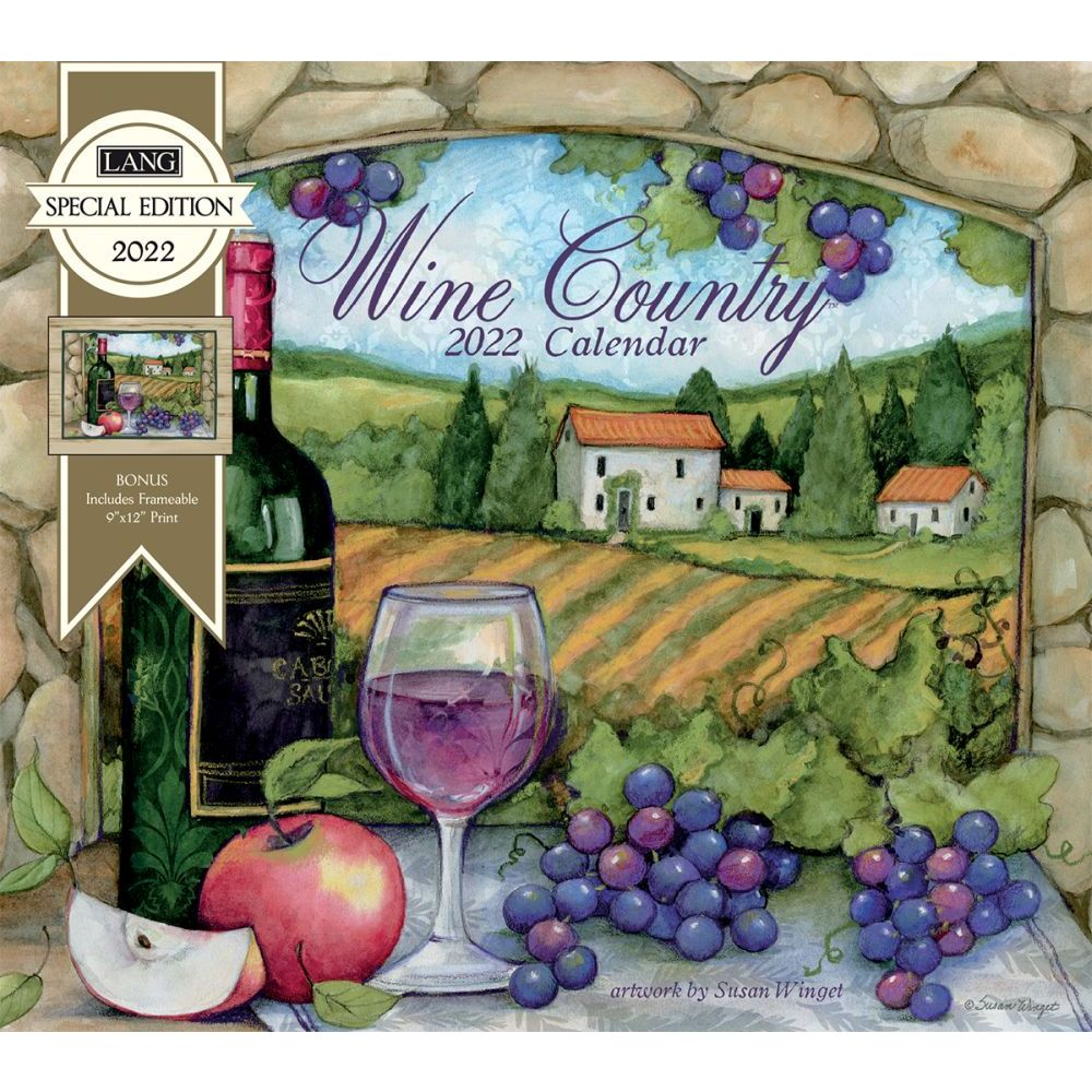 Wine Country Special Edition 2022 Wall Calendar