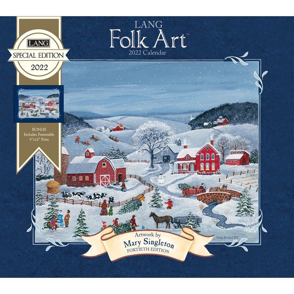 Lang Folk Art 2022 Special Edition Wall Calendar