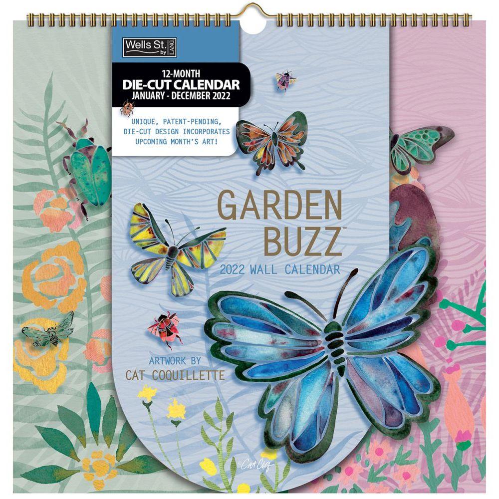 Garden Buzz 2022 DieCut Spiral Calendar