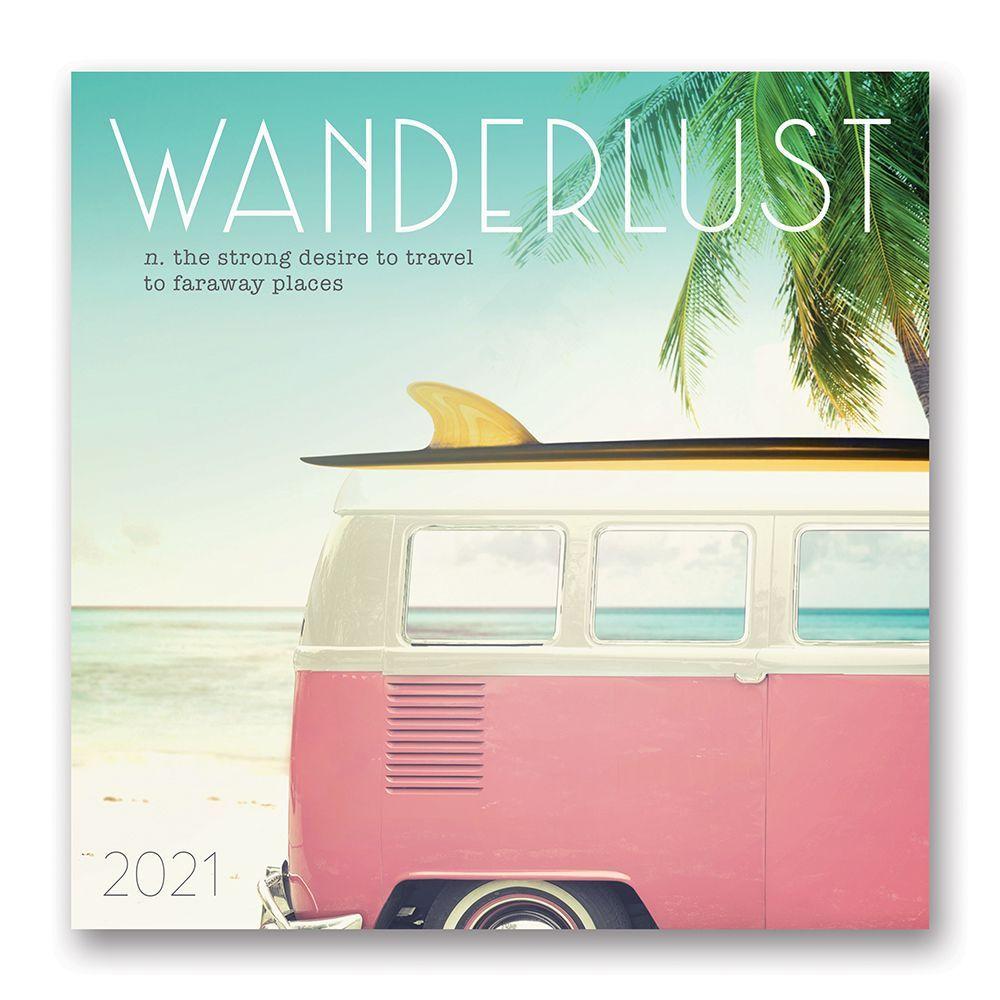 2021 Wanderlust Wall Calendar