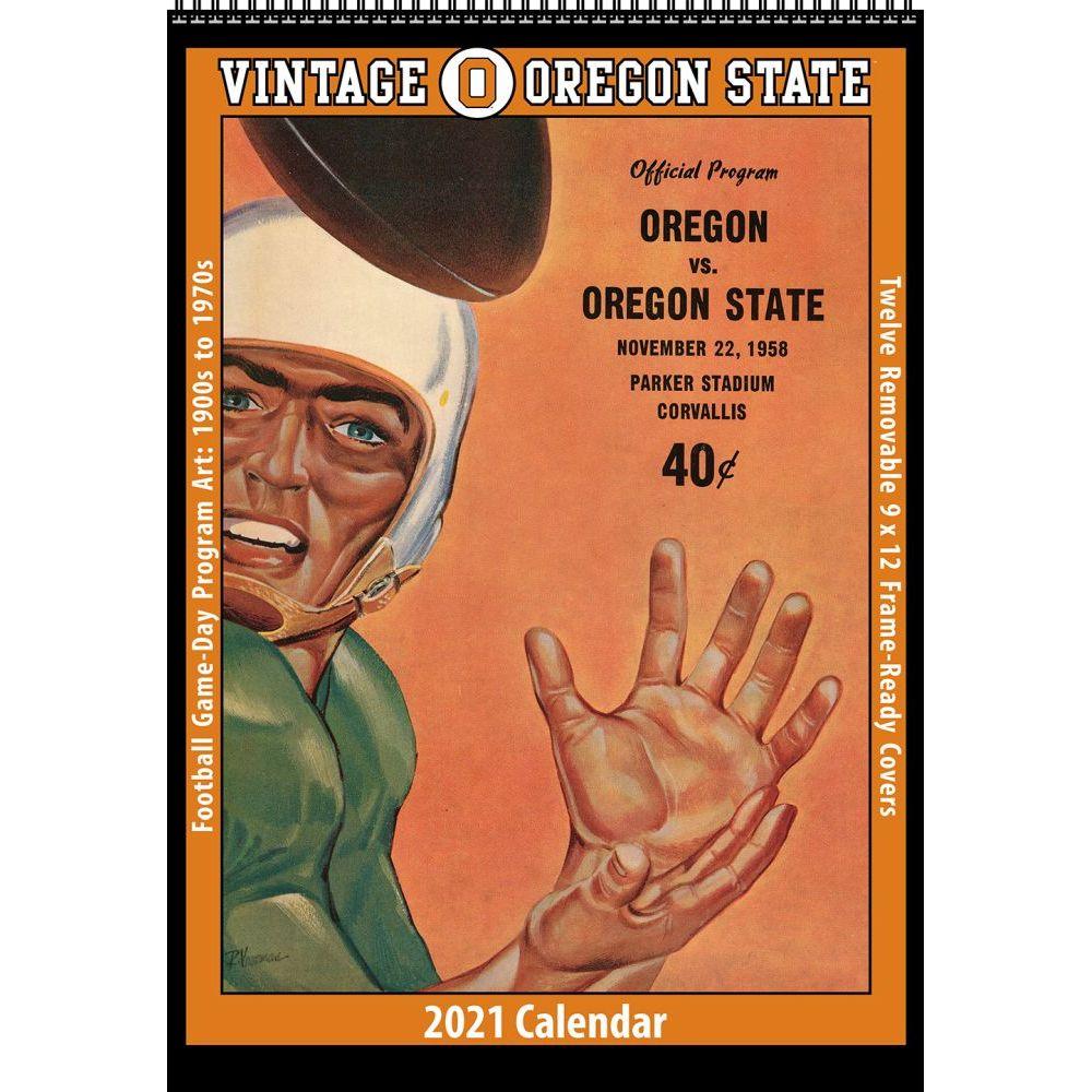 Vintage Oregon State Beavers Football 2021 Poster Calendar