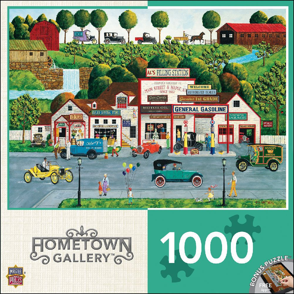 Best Hometown Gallery - The Old Filling Station Puzzle 1000 Piece Puzzle You Can Buy