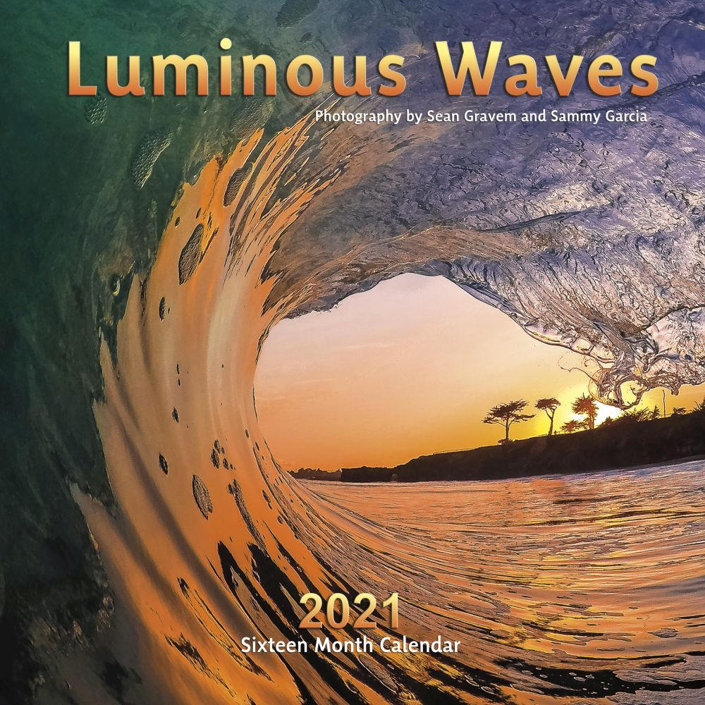 2021 Luminous Waves Wall Calendar