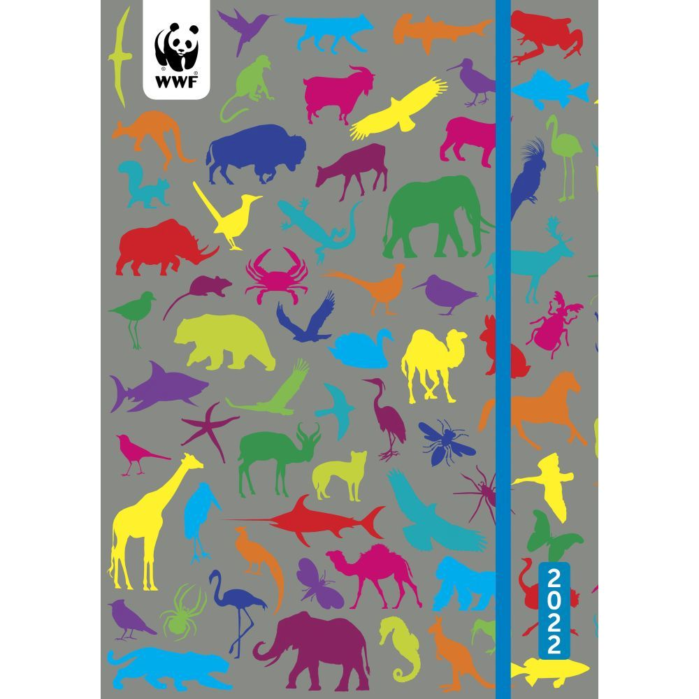 WWF Wild Animals 2022 Weekly Planner Flexi Cover