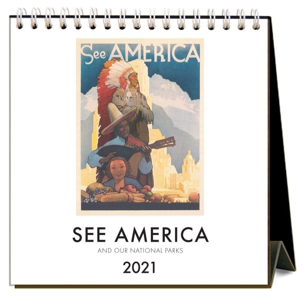 2021 See America Easel Calendar