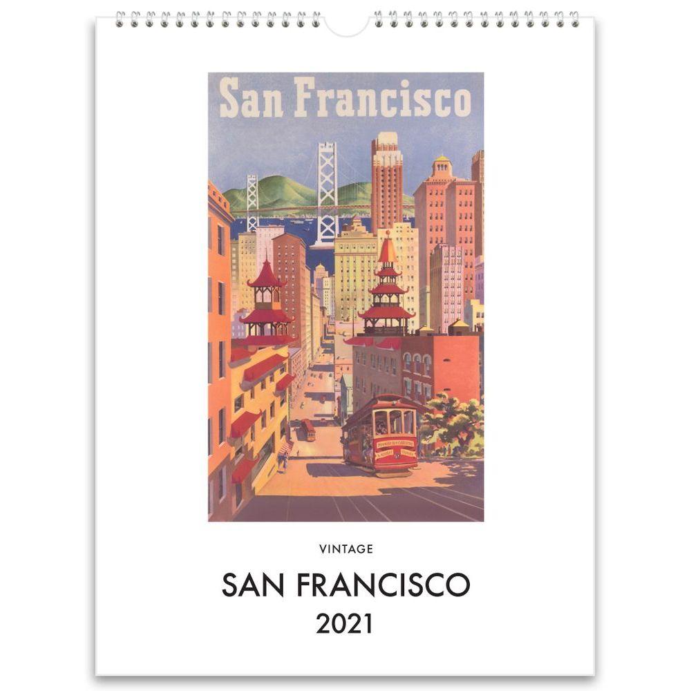 2021 San Francisco Nostalgic Poster Wall Calendar