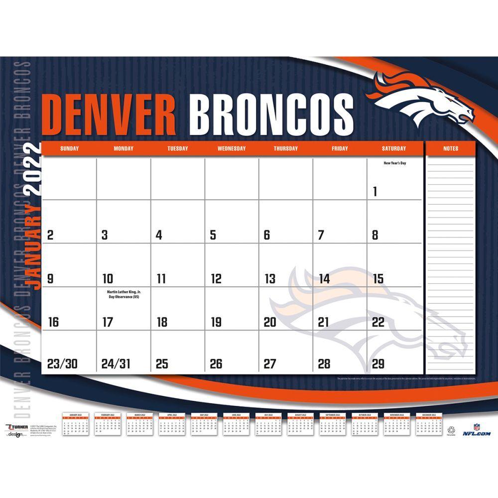 Denver Broncos 2022 Desk Pad