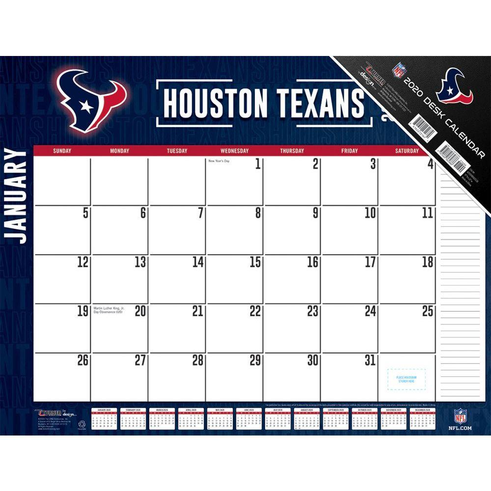 Houston Texans 2021 Desk Pad
