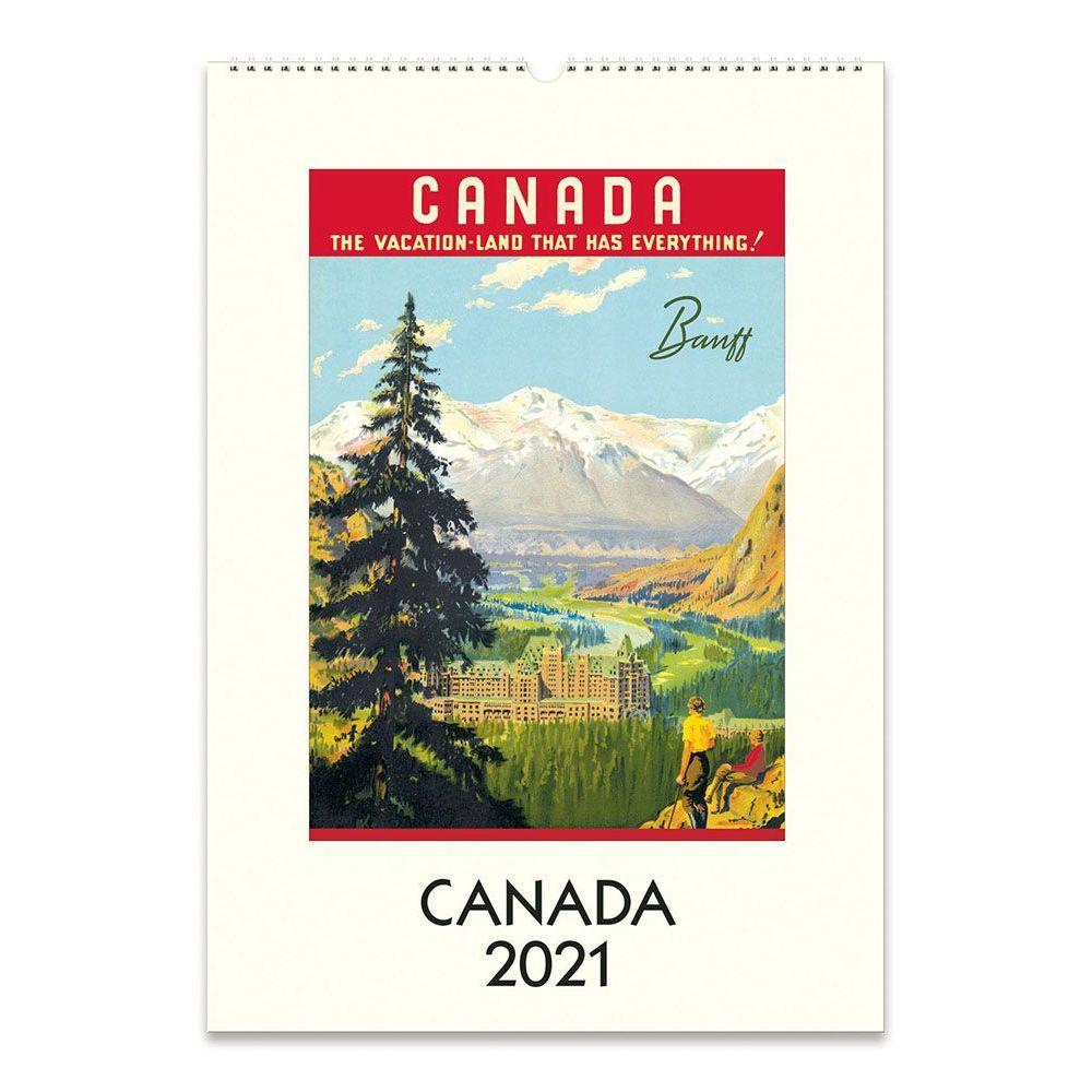 2021 Canada Poster Wall Calendar