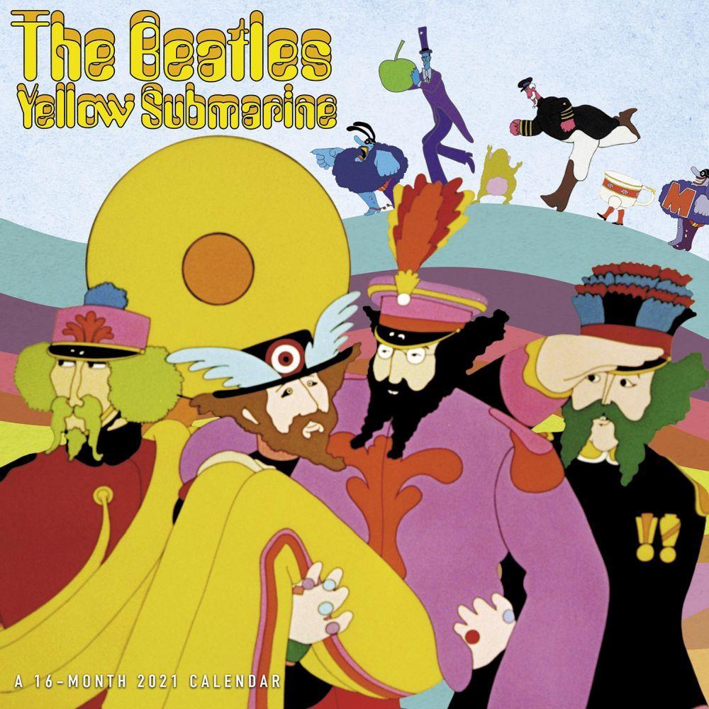 2021 Beatles Yellow Submarine Wall Calendar