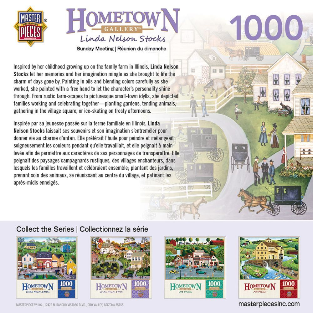 Hometown Sunday Meeting 1000pc Puzzle-3