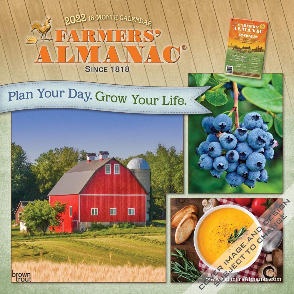 Farmers Almanac Gardening 2022 Wall Calendar