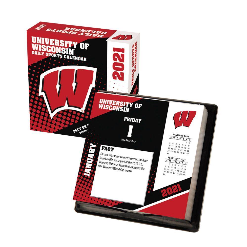 2021 Wisconsin Badgers Desk Calendar