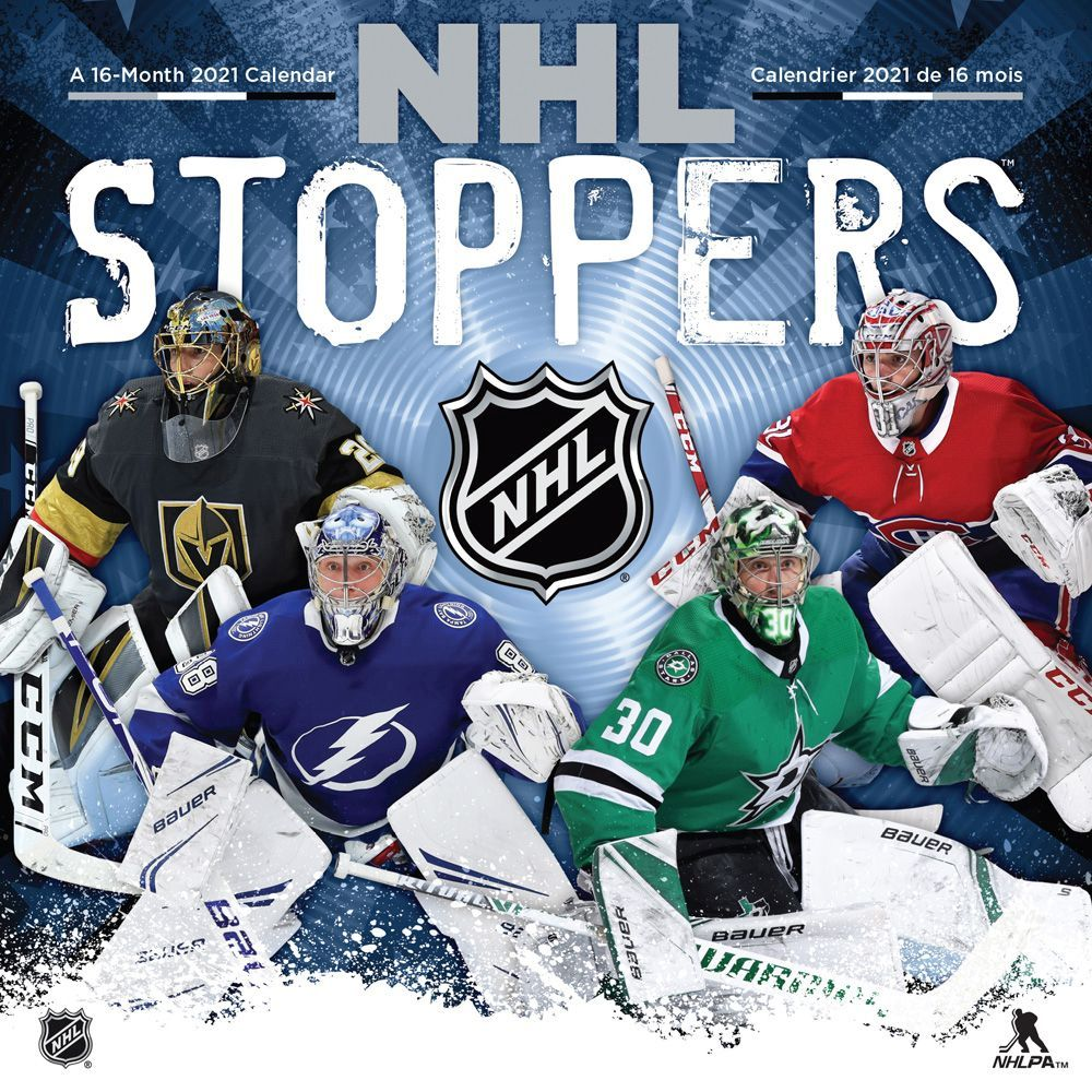NHL Stoppers Bilingual 2021 Wall Calendar