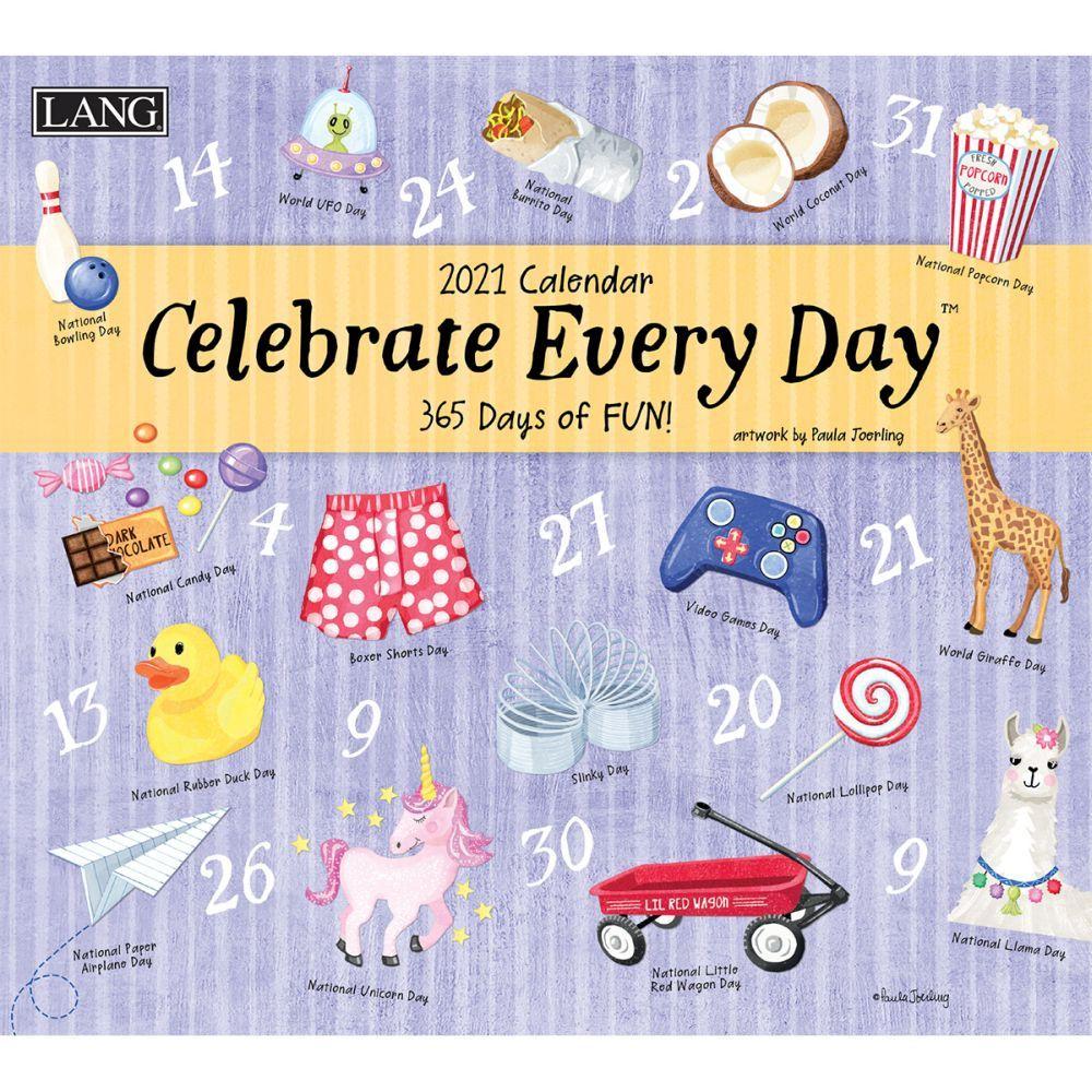 2021 Celebrate Every Day Wall Calendar by Paula Joerling